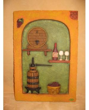 Placa cocina vino