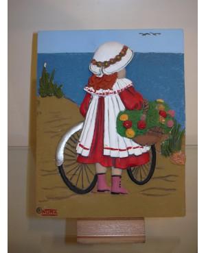 Placa Niña con Bici
