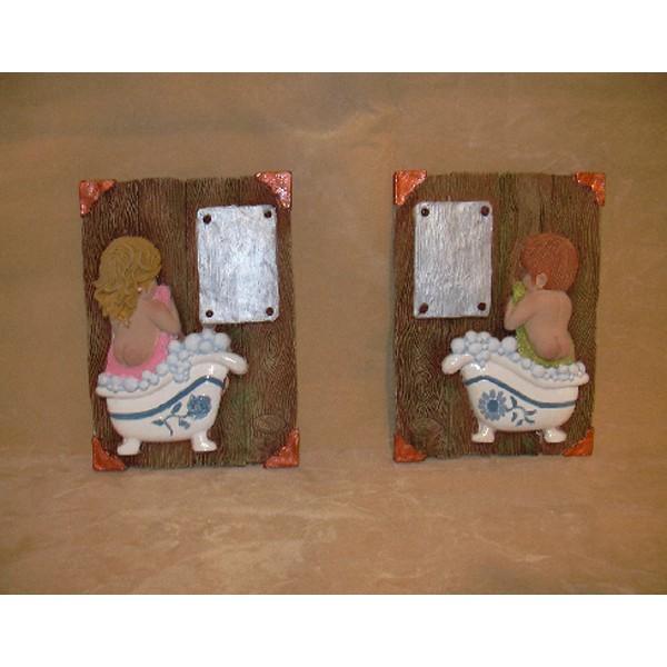 Placas ni os ba o manualidades para pintar en marmolina - Cuadros para banos online ...