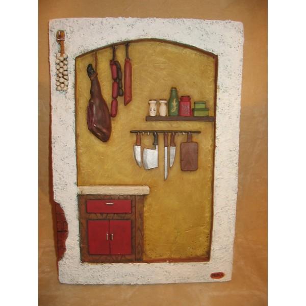 Manualidad en marmolina placa cocina despensa - Placa de cocina ...