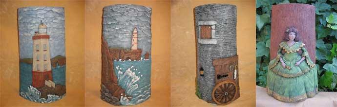 Tejas manualidades decoraci n mundo figuras - Como decorar tejas rusticas ...